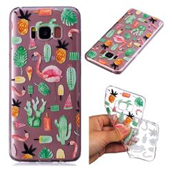 Cactus Flamingos Super Clear Soft TPU Back Cover for Samsung Galaxy S8 Plus S8+