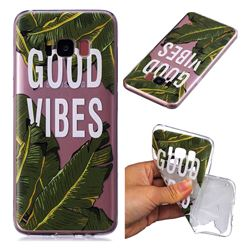 Good Vibes Banana Leaf Super Clear Soft TPU Back Cover for Samsung Galaxy S8 Plus S8+