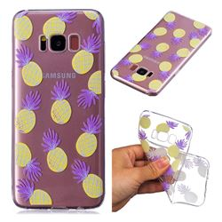 Carton Pineapple Super Clear Soft TPU Back Cover for Samsung Galaxy S8 Plus S8+