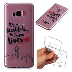 Line Castle Super Clear Soft TPU Back Cover for Samsung Galaxy S8 Plus S8+