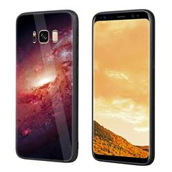 Luxury Starry Sky Tempered Glass Hard Back Cover with Silicone Bumper for Samsung Galaxy S8 Plus S8+ - Pink