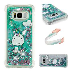Tiny Unicorn Dynamic Liquid Glitter Sand Quicksand Star TPU Case for Samsung Galaxy S8 Plus S8+