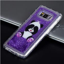 Naughty Panda Glassy Glitter Quicksand Dynamic Liquid Soft Phone Case for Samsung Galaxy S8 Plus S8+