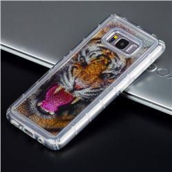 Tiger Glassy Glitter Quicksand Dynamic Liquid Soft Phone Case for Samsung Galaxy S8 Plus S8+