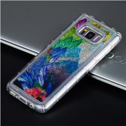 Phoenix Glassy Glitter Quicksand Dynamic Liquid Soft Phone Case for Samsung Galaxy S8 Plus S8+