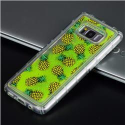 Pineapple Glassy Glitter Quicksand Dynamic Liquid Soft Phone Case for Samsung Galaxy S8 Plus S8+