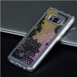 Diagonal Lace Glassy Glitter Quicksand Dynamic Liquid Soft Phone Case for Samsung Galaxy S8 Plus S8+