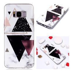 Four Triangular Soft TPU Marble Pattern Phone Case for Samsung Galaxy S8 Plus S8+