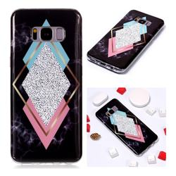 Black Diamond Soft TPU Marble Pattern Phone Case for Samsung Galaxy S8 Plus S8+
