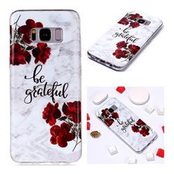 Rose Soft TPU Marble Pattern Phone Case for Samsung Galaxy S8 Plus S8+