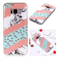 Diagonal Grass Soft TPU Marble Pattern Phone Case for Samsung Galaxy S8 Plus S8+