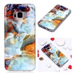 Fire Cloud Soft TPU Marble Pattern Phone Case for Samsung Galaxy S8 Plus S8+