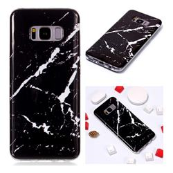 Black Rough white Soft TPU Marble Pattern Phone Case for Samsung Galaxy S8 Plus S8+