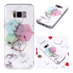 Hexagonal Soft TPU Marble Pattern Phone Case for Samsung Galaxy S8 Plus S8+