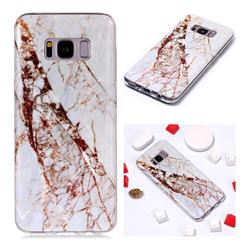 White Crushed Soft TPU Marble Pattern Phone Case for Samsung Galaxy S8 Plus S8+
