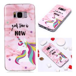 Unicorn Soft TPU Marble Pattern Phone Case for Samsung Galaxy S8 Plus S8+