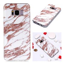 Rose Gold Grain Soft TPU Marble Pattern Phone Case for Samsung Galaxy S8 Plus S8+