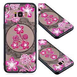 Daffodil Lace Diamond Flower Soft TPU Back Cover for Samsung Galaxy S8 Plus S8+