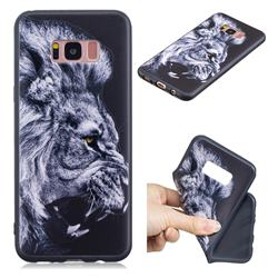 Lion 3D Embossed Relief Black TPU Cell Phone Back Cover for Samsung Galaxy S8 Plus S8+