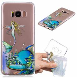 Mermaid Clear Varnish Soft Phone Back Cover for Samsung Galaxy S8 Plus S8+