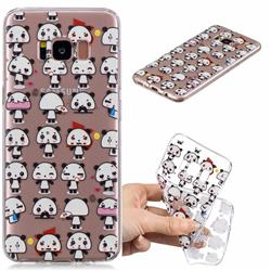 Mini Panda Clear Varnish Soft Phone Back Cover for Samsung Galaxy S8 Plus S8+