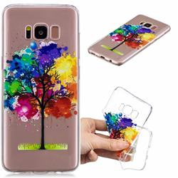 Oil Painting Tree Clear Varnish Soft Phone Back Cover for Samsung Galaxy S8 Plus S8+
