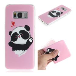 Heart Cat IMD Soft TPU Cell Phone Back Cover for Samsung Galaxy S8 Plus S8+