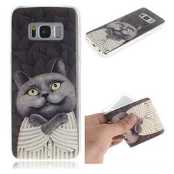 Cat Embrace IMD Soft TPU Cell Phone Back Cover for Samsung Galaxy S8 Plus S8+
