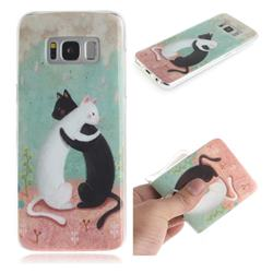Black and White Cat IMD Soft TPU Cell Phone Back Cover for Samsung Galaxy S8 Plus S8+
