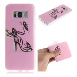 Butterfly High Heels IMD Soft TPU Cell Phone Back Cover for Samsung Galaxy S8 Plus S8+