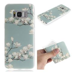 Magnolia Flower IMD Soft TPU Cell Phone Back Cover for Samsung Galaxy S8 Plus S8+