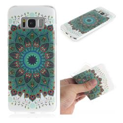 Peacock Mandala IMD Soft TPU Cell Phone Back Cover for Samsung Galaxy S8 Plus S8+
