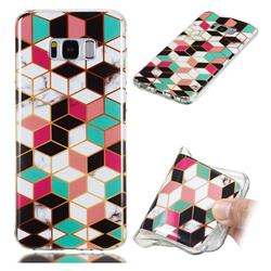 Three-dimensional Square Soft TPU Marble Pattern Phone Case for Samsung Galaxy S8 Plus S8+