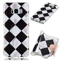Black and White Matching Soft TPU Marble Pattern Phone Case for Samsung Galaxy S8 Plus S8+