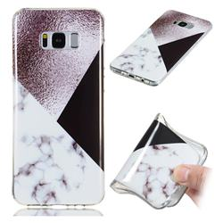 Black white Grey Soft TPU Marble Pattern Phone Case for Samsung Galaxy S8 Plus S8+