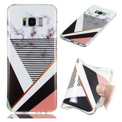 Pinstripe Soft TPU Marble Pattern Phone Case for Samsung Galaxy S8 Plus S8+