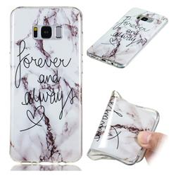 Forever Soft TPU Marble Pattern Phone Case for Samsung Galaxy S8 Plus S8+