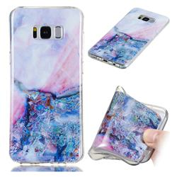 Purple Amber Soft TPU Marble Pattern Phone Case for Samsung Galaxy S8 Plus S8+