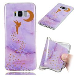 Elf Purple Soft TPU Marble Pattern Phone Case for Samsung Galaxy S8 Plus S8+