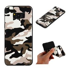 Camouflage Soft TPU Back Cover for Samsung Galaxy S8 Plus S8+ - Black White