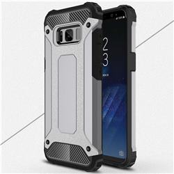 King Kong Armor Premium Shockproof Dual Layer Rugged Hard Cover for Samsung Galaxy S8 Plus S8+ - Silver Grey
