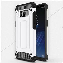 King Kong Armor Premium Shockproof Dual Layer Rugged Hard Cover for Samsung Galaxy S8 Plus S8+ - White