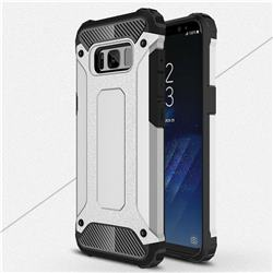 King Kong Armor Premium Shockproof Dual Layer Rugged Hard Cover for Samsung Galaxy S8 Plus S8+ - Technology Silver