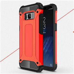 King Kong Armor Premium Shockproof Dual Layer Rugged Hard Cover for Samsung Galaxy S8 Plus S8+ - Big Red