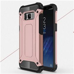 King Kong Armor Premium Shockproof Dual Layer Rugged Hard Cover for Samsung Galaxy S8 Plus S8+ - Rose Gold