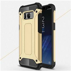 King Kong Armor Premium Shockproof Dual Layer Rugged Hard Cover for Samsung Galaxy S8 Plus S8+ - Champagne Gold