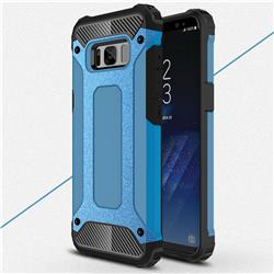 King Kong Armor Premium Shockproof Dual Layer Rugged Hard Cover for Samsung Galaxy S8 Plus S8+ - Sky Blue