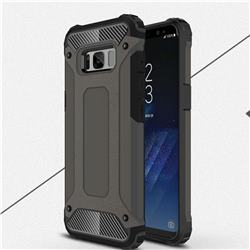 King Kong Armor Premium Shockproof Dual Layer Rugged Hard Cover for Samsung Galaxy S8 Plus S8+ - Bronze