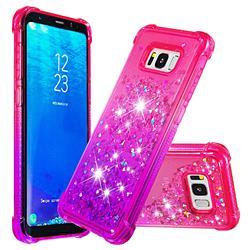 Rainbow Gradient Liquid Glitter Quicksand Sequins Phone Case for Samsung Galaxy S8 Plus S8+ - Pink Purple
