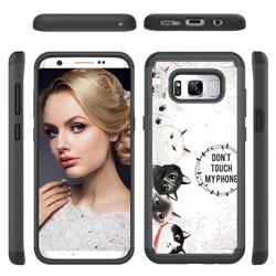 Cute Kittens Shock Absorbing Hybrid Defender Rugged Phone Case Cover for Samsung Galaxy S8 Plus S8+